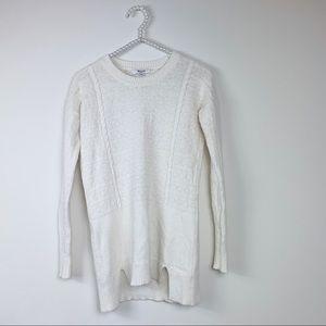 Madewell ivory sweater XXS  textured Merino wool